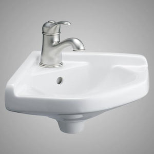 Pease Vitreous China Corner Wall-Mount Sink