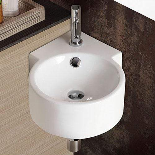 Pinto Vitreous China Corner Wall-Mount Bathroom Sink