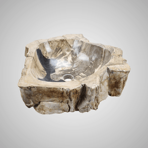 Ramona Petrified Wood Vessel Sink - Black Interior
