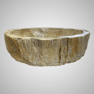 Ramona Petrified Wood Vessel Sink - Yellow Interior