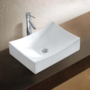 Saginaw Vitreous China Rectangular Vessel Sink