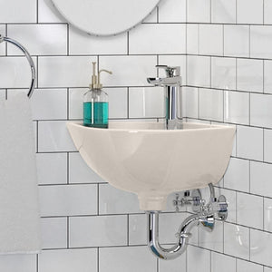 Sartell Vitreous China Corner Wall-Mount Sink
