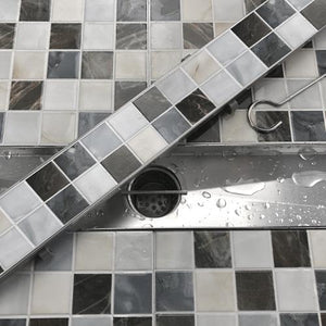 Sassari Linear Shower Drain for Tile Insert
