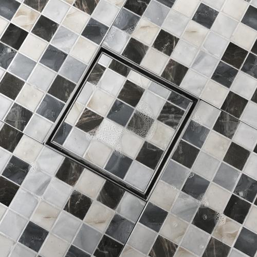 Sassari Square Shower Drain for Tile Insert