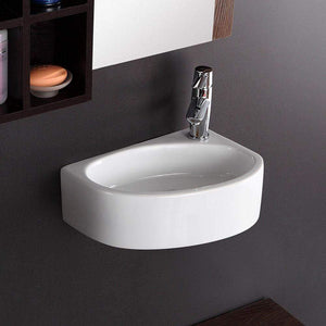 Saxon Vitreous China Wall-Mount Bathroom Sink - Right Side Faucet Drilling