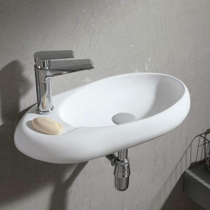 Sayner Vitreous China Wall-Mount Bathroom Sink