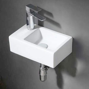 Seeley Vitreous China Wall-Mount Bathroom Sink - Left Side Faucet Drilling