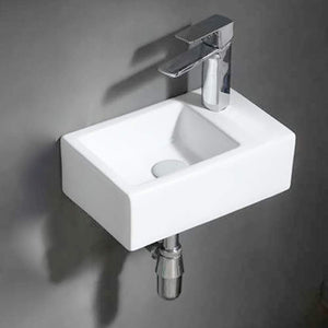 Seeley Vitreous China Wall-Mount Bathroom Sink - Right Side Faucet Drilling