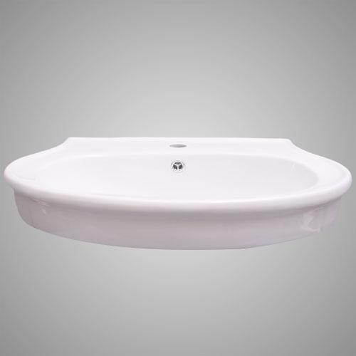 Shelvin Vitreous China Wall-Mount Bathroom Sink