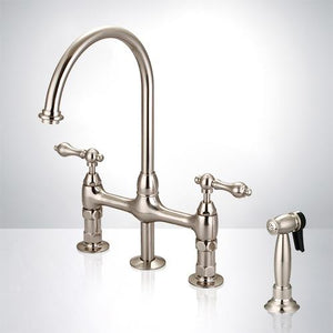 Sindal Bridge Kitchen Faucet with Brass Sprayer