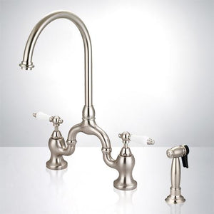 Sola Bridge Kitchen Faucet with Brass Sprayer