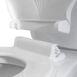 Solid Plastic Round Toilet Seat with Shell Design Cover