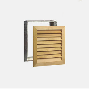 "Stainable Architectural Wood Return Grille - 16"" x 20"" Duct Size"