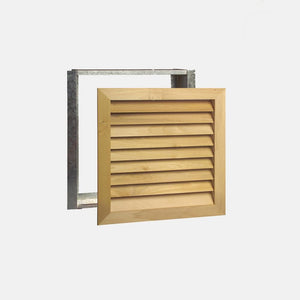 "Stainable Architectural Wood Return Grille - 20"" x 20"" Duct Size"