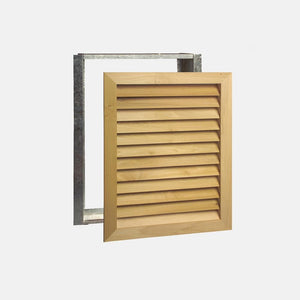 "Stainable Architectural Wood Return Grille - 20"" x 25"" Duct Size"