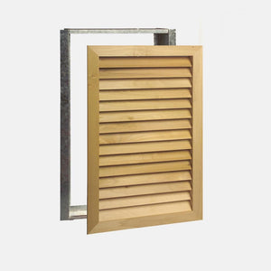"Stainable Architectural Wood Return Grille - 20"" x 30"" Duct Size"