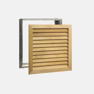 "Stainable Architectural Wood Return Grille - 24"" x 24"" Duct Size"