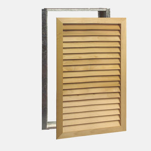 "Stainable Architectural Wood Return Grille - 24"" x 36"" Duct Size"