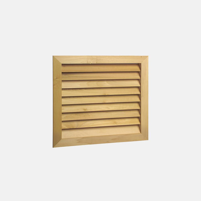"Stainable Architectural Wood Return Grille - 25"" x 20"" Duct Size"