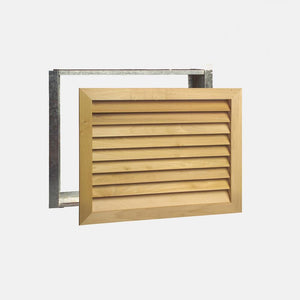 "Stainable Architectural Wood Return Grille - 30"" x 20"" Duct Size"
