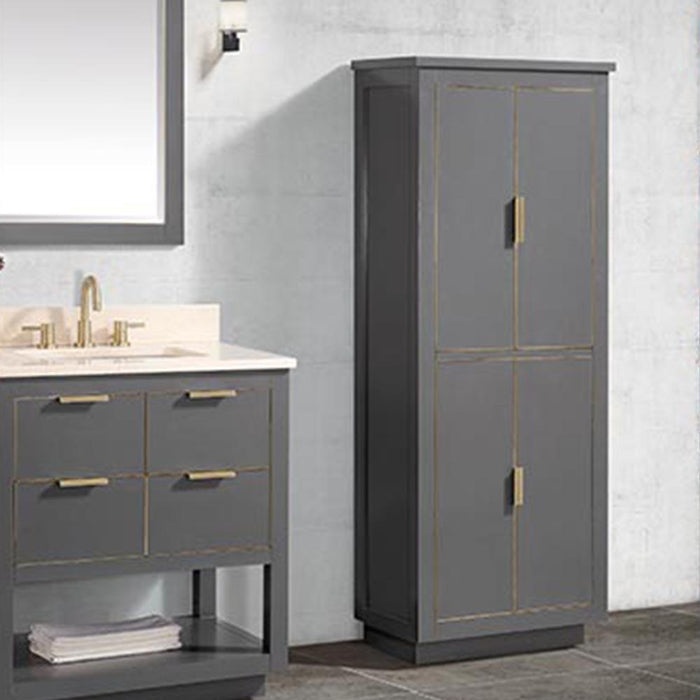 Tendoy Linen Storage Cabinet - Twilight Gray