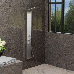 Thurles Thermostatic Stainless Steel Shower Panel with Hand Shower - Polished Finish