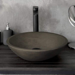 Tigard Round Cast Concrete Vessel Sink - Dusk Grey