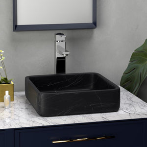 Toro Smooth Honed Black Forest Marble Vessel Sink