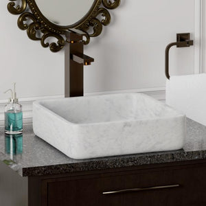 Toro Smooth Honed Moon White Marble Vessel Sink