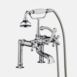 Traditional Deck-Mount Tub Faucet with Hand Shower