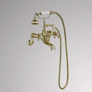 Traditional Wall-Mount Tub Faucet with Hand Shower