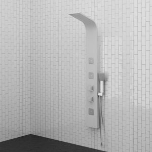 Tralee Thermostatic Shower Panel with Hand Shower - White Finish