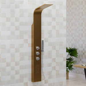 Truro Thermostatic Stainless Steel Shower Panel with Hand Shower - Brushed Bronze Finish