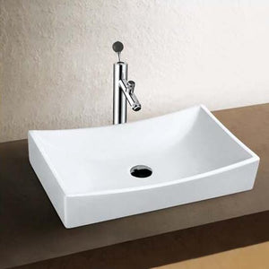 Tustin Vitreous China Rectangular Vessel Sink