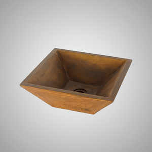 Uriah Square Cast Concrete Vessel Sink - Vintage Brown