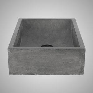 Vardaman Rectangular Cast Concrete Vessel Sink - Dusk Grey
