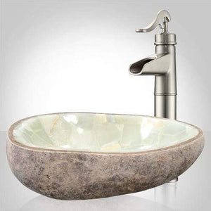 Ventana Yellow Onyx Vessel Sink