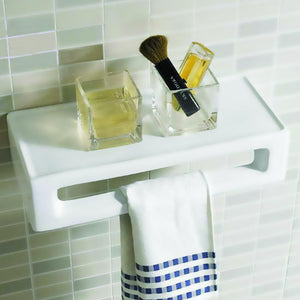 Vitreous China Rectangular Wall-Mount Accessory Shelf