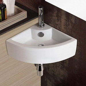 Waino Vitreous China Corner Wall-Mount Bathroom Sink