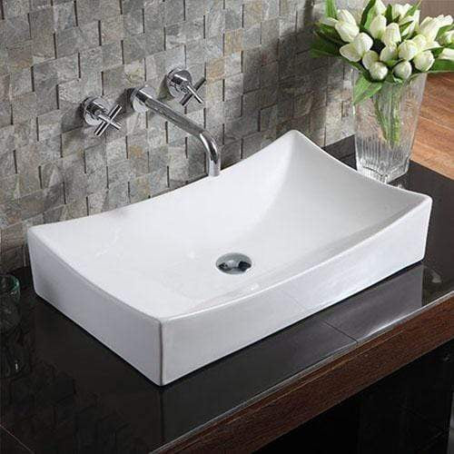 Waupon Vitreous China Rectangular Vessel Sink