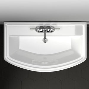 Waycross 400 Vitreous China Pedestal Sink