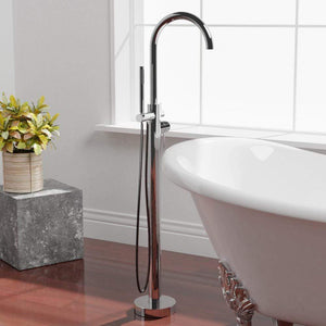 Webster Thermostatic Freestanding Tub Faucet with Hand Shower