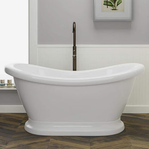 Winchester Acrylic Double-Slipper Tub with Pedestal