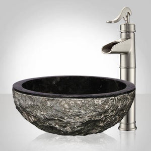 Wybark Marble Vessel Sink - Black