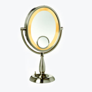 Zuni Round Freestanding Lighted Vanity Mirror