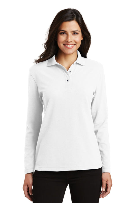 Port Authority® Ladies  Silk Touch™ Long Sleeve Polo.  L500LS