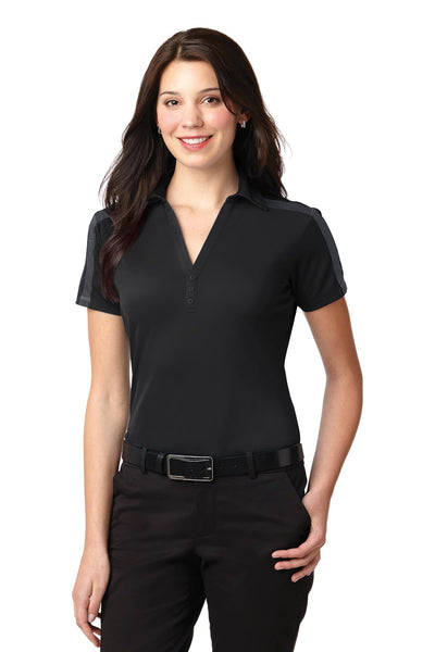 Port Authority® Ladies Silk Touch™ Performance Colorblock Stripe Polo. L547