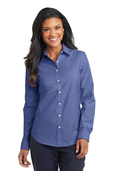 Port Authority® Ladies SuperPro™ Oxford Shirt. L658