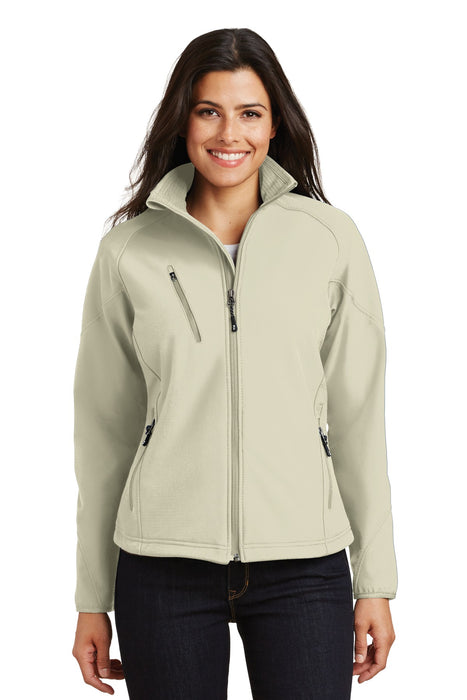 Port Authority® Ladies Textured Soft Shell Jacket. L705