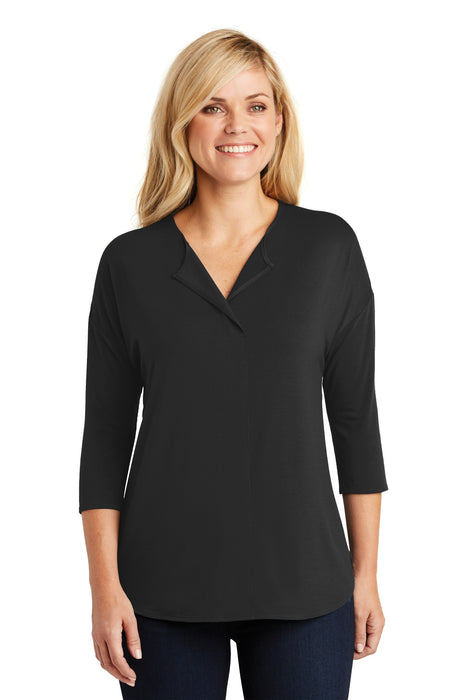 Port Authority® Ladies Concept 3/4-Sleeve Soft Split Neck Top. LK5433